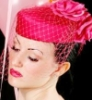 pink pillbox veil