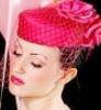 pink pillbox veil