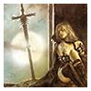 moon, sword