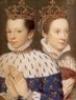miniature Mary and Francois