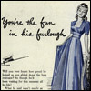 blue dress, 50s, Suzy Q Homemaker
