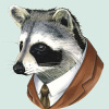 this raccoon is a businessman