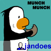 penguinj, penguin, cookie, jandoes