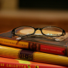 Books-Glasses on books