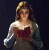 Ophelia reads.  Crankily.