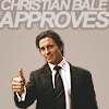 schadenfreude: Celeb: Christian Bale approves