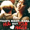 kara hug it out