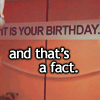 Paula: holiday- its your birthday