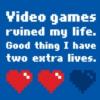 schadenfreude: gen: videogame ruined my life