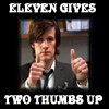 Doctor Who - Eleven gives two thumbs up