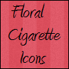 Floral Cigarette Icons