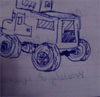 This Side Up: truck doodle