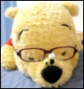 Pooh with glasses