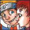 kosmonauttihai: Naruto and Gaara talky