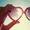 [&] Heart-shaped glasses