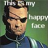 Fury happy face