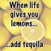 lemons - tequila