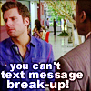 fandom psych: text message breakup?!