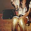 Radioactive Girl: gold leggings