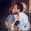 Zoey & Josh cheek kiss
