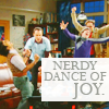 nerdy dance of joy