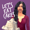 Sims 2: Lets eat cakes! (me)