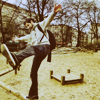 Rich, playground, falling