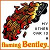 flaming bentley, GO - Crowley - flaming bentley