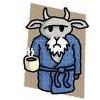 Grumpy Atheist Goat~Mr Gruff