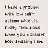 WORDS low self esteem