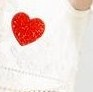 heart, white, red, love