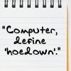"""define hoedown."""