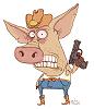 Ковбой-свин