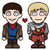 But, I don't want to be a pie,: merlin luvs arthur