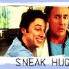 sneak hug, jd/dr.cox, dr.cox/jd, dr. cox, scrubs