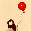 girl with balloon;