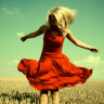The Folks Between: Red Dressed Blonde
