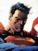 Superman with red eyes