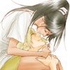 bleach: kisuke/yoruichi shoulder
