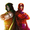 Magneto and Doom.