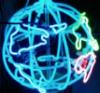 неоновый глобус