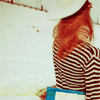 red hair back