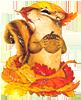 настроение, бурундук, осень