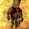 hand, parchment