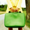 I'm breaking away from names. A name is a leash.: green luggage