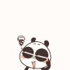 cute panda: stressed