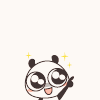超ちゃ人: cute panda: excited