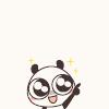 超ちゃ人: cute panda: excited