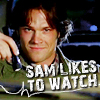 Tammiej: Supernatural // Sammy Likes To Watch.