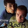 kirk/spock know your roots